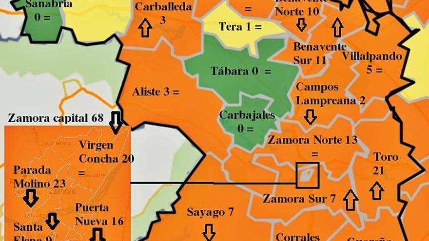 El ritmo de reproducción del virus en Zamora es el más bajo de la comunidad