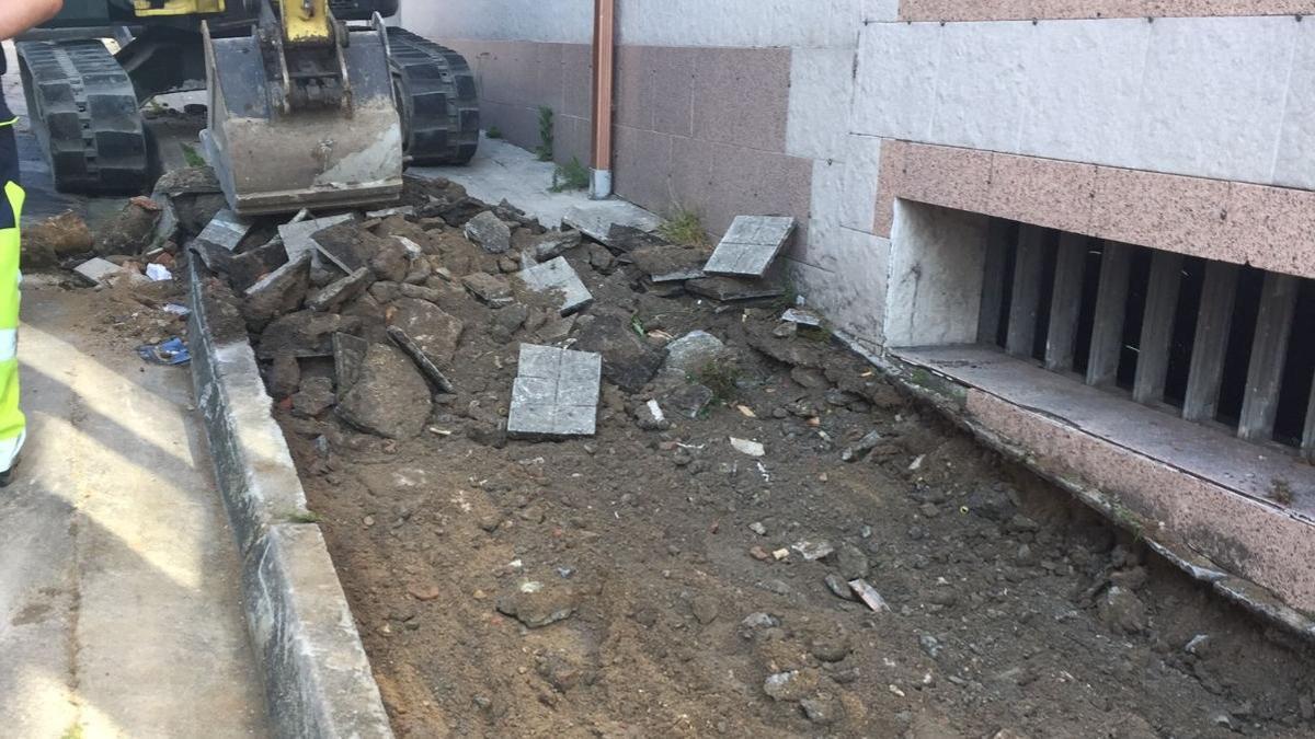 Obras en la calle García Filgueira