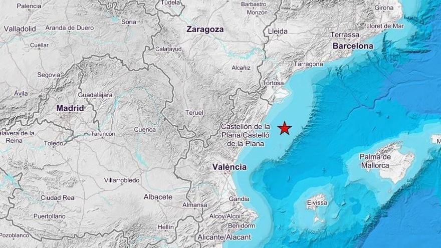 Un terremoto de 3,2 grados de magnitud se deja sentir en el golfo de València