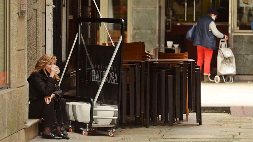 """La hostelería de Vilagarcía: """"La apertura es insuficiente; aquí se debería trabajar dentro"""""""