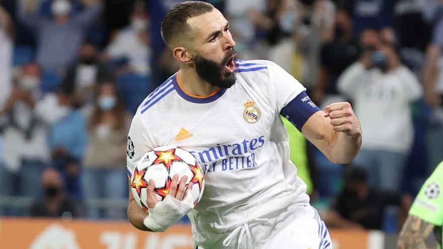 Benzema supera a Raúl y ya es el cuarto máximo goleador en la historia de la Champions