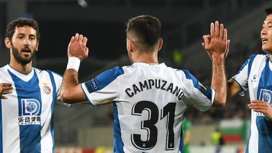 El Espanyol, líder de grupo tras imponerse al Ludogorets