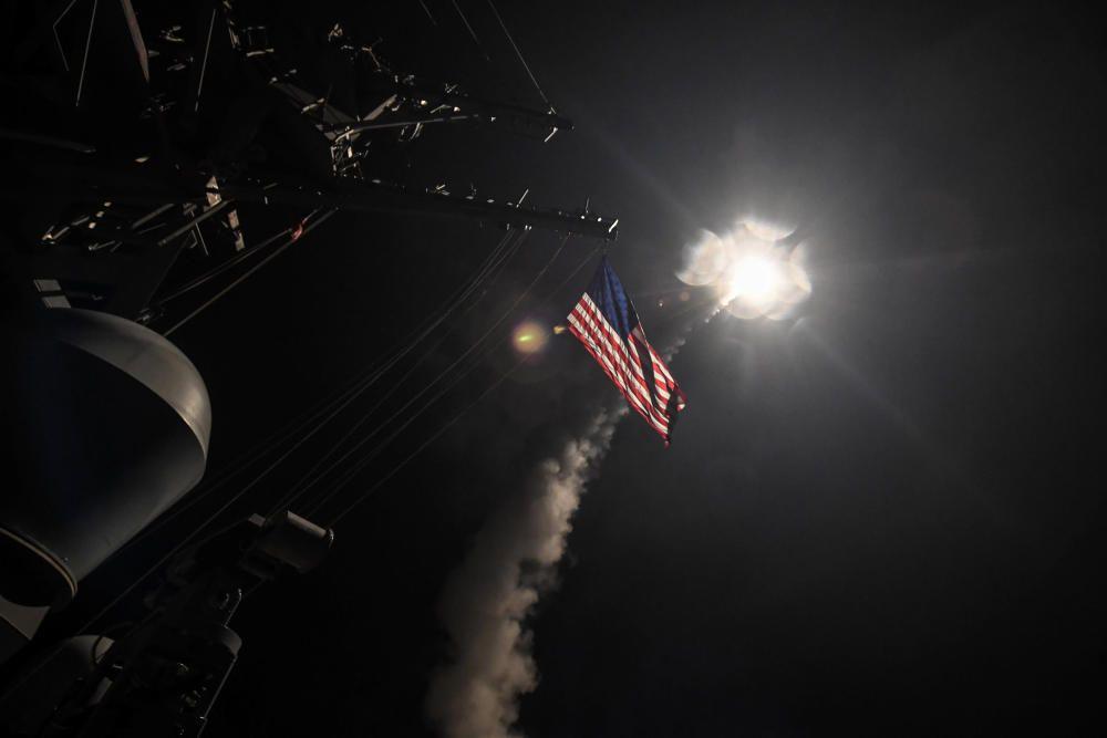 Las imágenes del bombardeo de EEUU a Siria