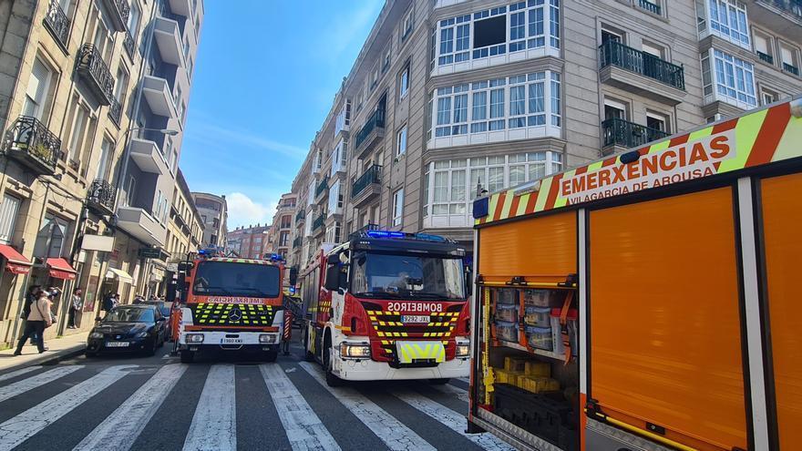 Incendio en el centro de Vilagarcía