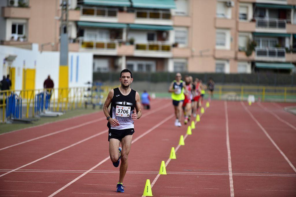 Pruebas de atletismo nacional en la pista de atletismo de Cartagena este domingo