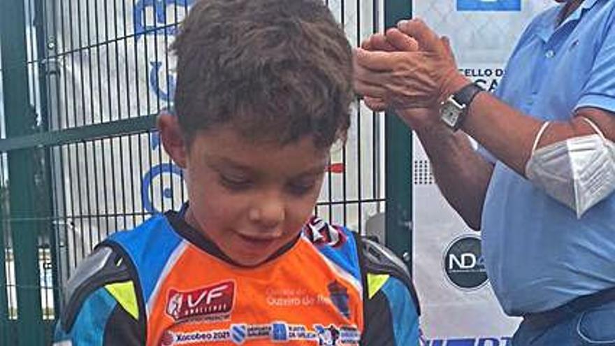 Hugo Merchán, tercero en BS21 en Outeiro de Rei