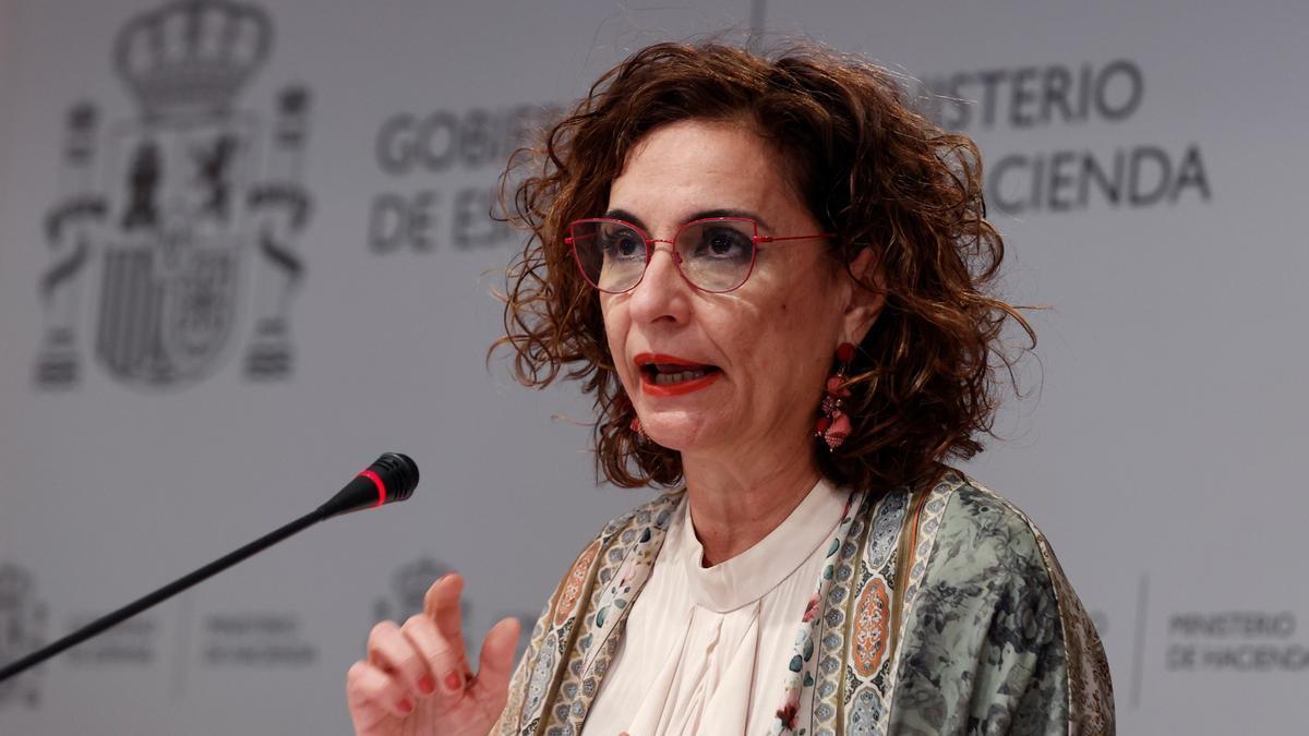 La ministra de Hacienda  Maria Jesús Montero.