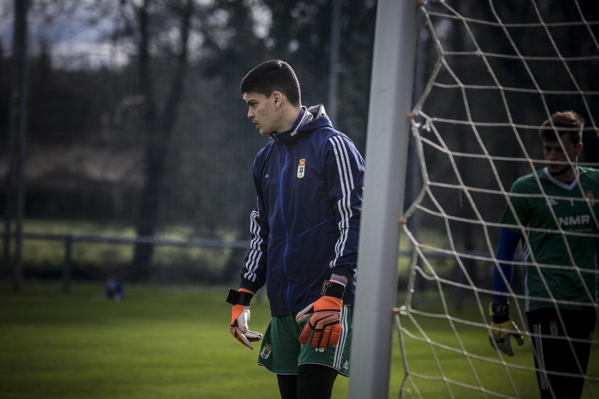 El entrenamiento del Oviedo tras la derrota ante el Albacete