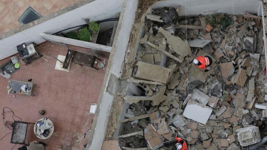 Hausdach in Palmas Viertel Pere Garau eingestürzt