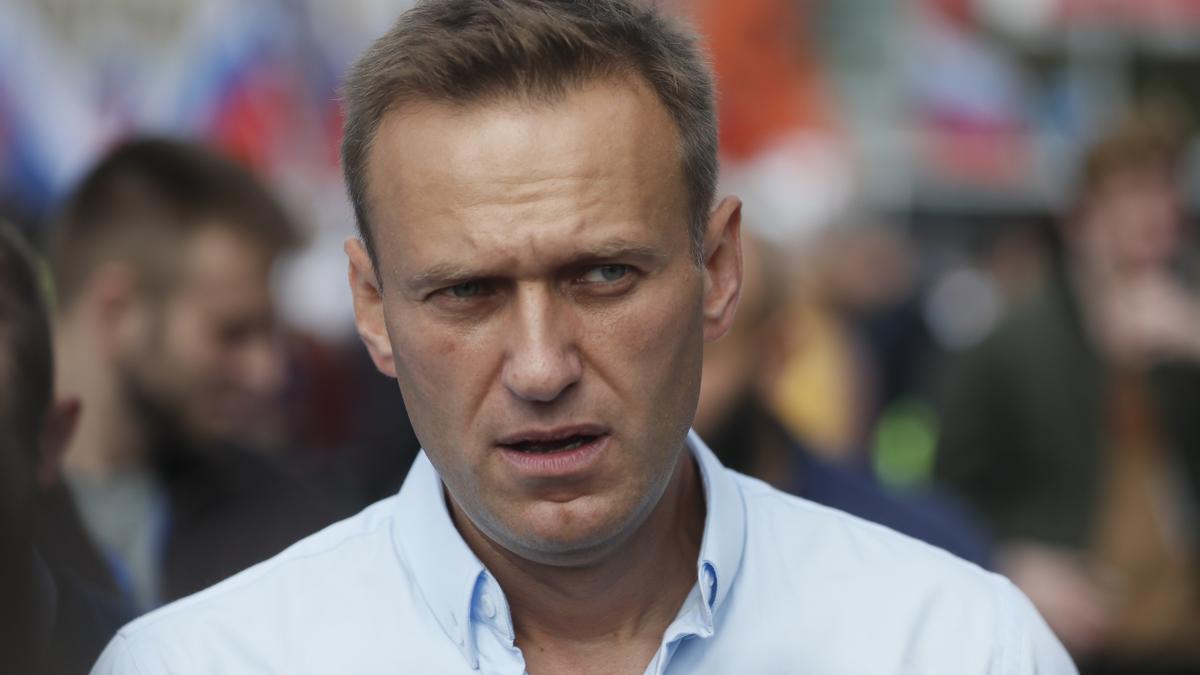El líder opositor ruso, Alexei Navalni, durante el juicio