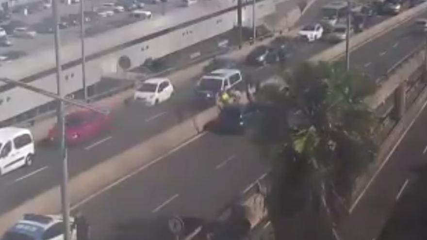 Accidente en el viaducto de La Ballena (22/04/21)