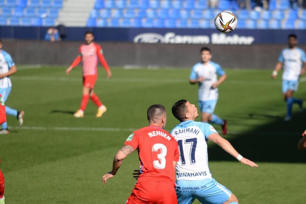 Partido de la Copa del Rey entre el Málaga CF y el Granada.