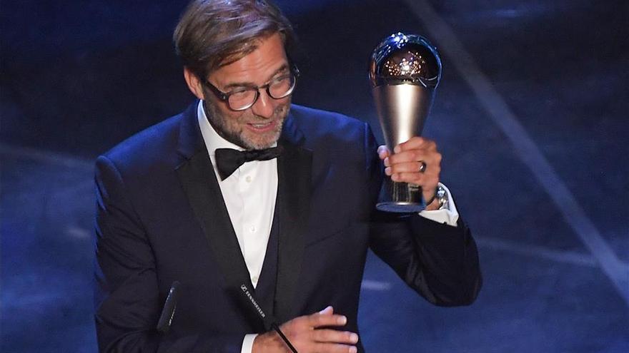 Jurgen Klopp, elegido mejor entrenador del año por la FIFA