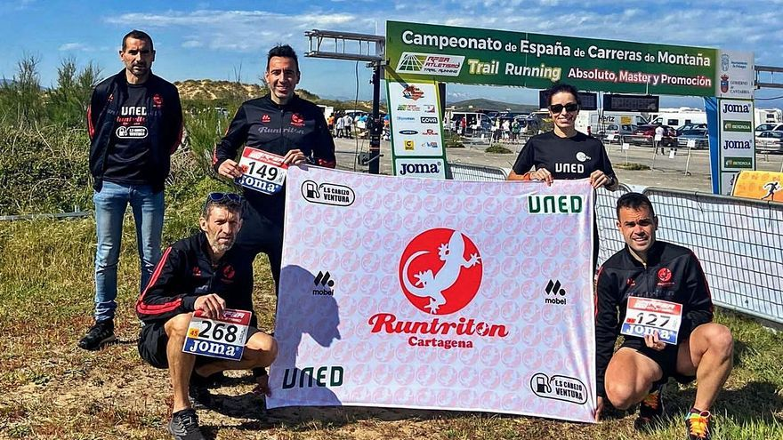 Alejandro García y Gemma Rebollo, subcampeones nacionales de trail running