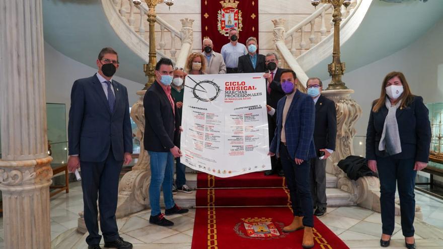 El Ayuntamiento de Cartagena presenta un ciclo de 'Marchas Procesionales' para mantener vivo el espíritu de la Semana Santa
