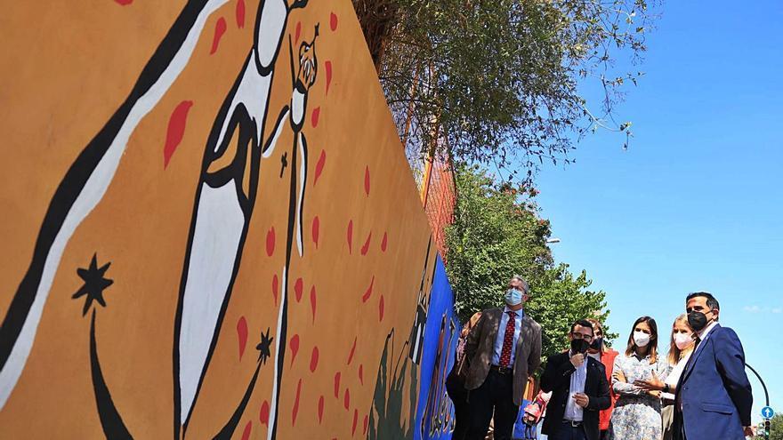 Algezares estrena un mural en honor a Párraga
