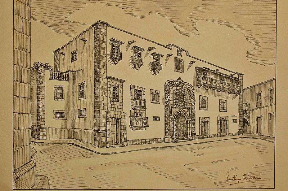 La invitaci�n a la inauguraci�n de la Casa de Col�n del a�o 1951..jpg