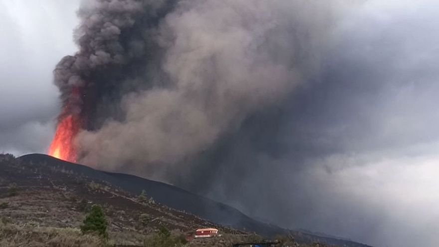 El azufre del volcán viajará desde La Palma hasta el Mediterráneo
