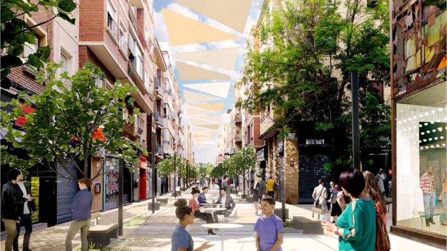 Las obras de las galerías comerciales de Zaragoza se retrasarán a 2022