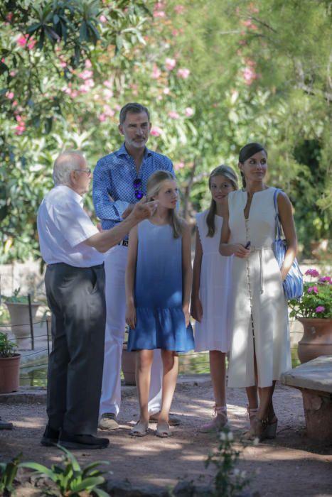 La Familia Real visita Son Marroig y se despide de Mallorca
