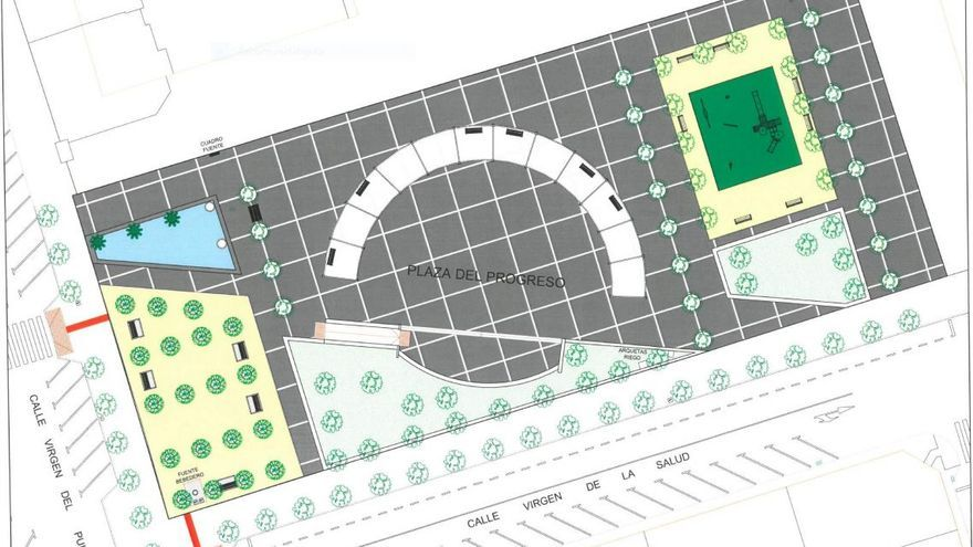 Las obras de acondicionamiento de la Plaza del Progreso contarán con una inversión de 407.000 euros