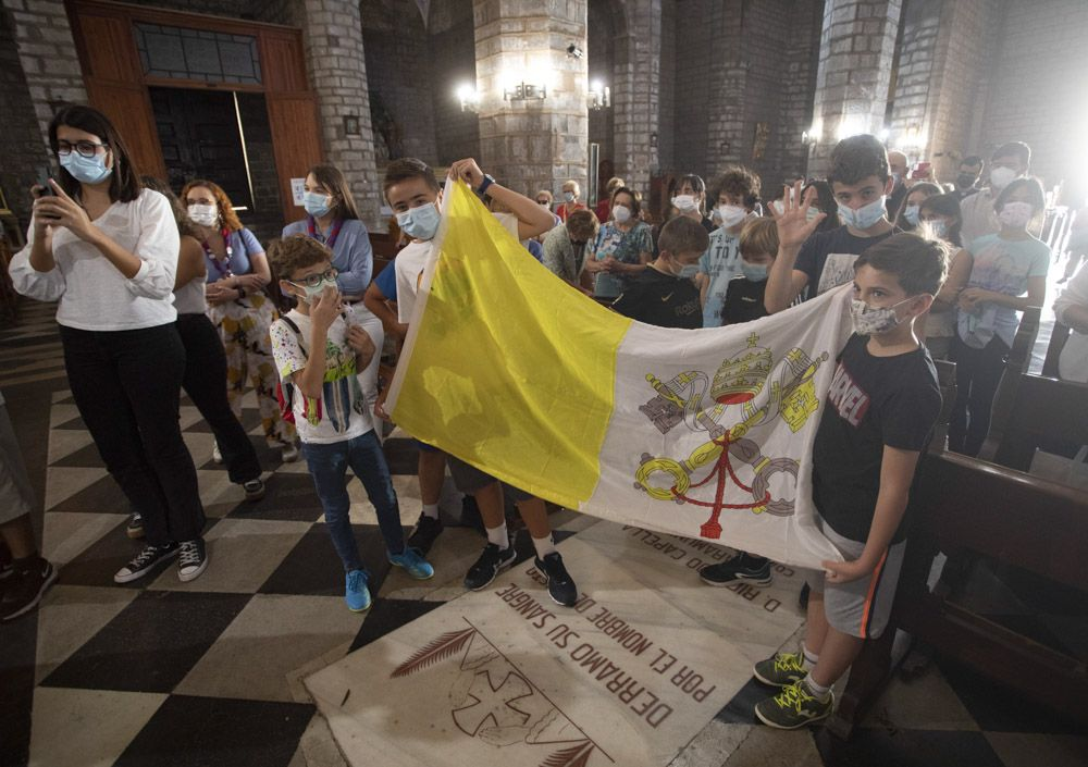 Los símbolos de la Jornada Mundial de la Juventud (Lisboa 2023), llegan a Sagunt.