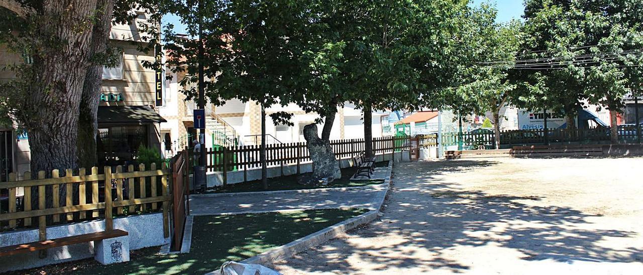 La plaza de A Carrasca estará en obras durante cuatro meses, según el proyecto municipal. |   // FDV