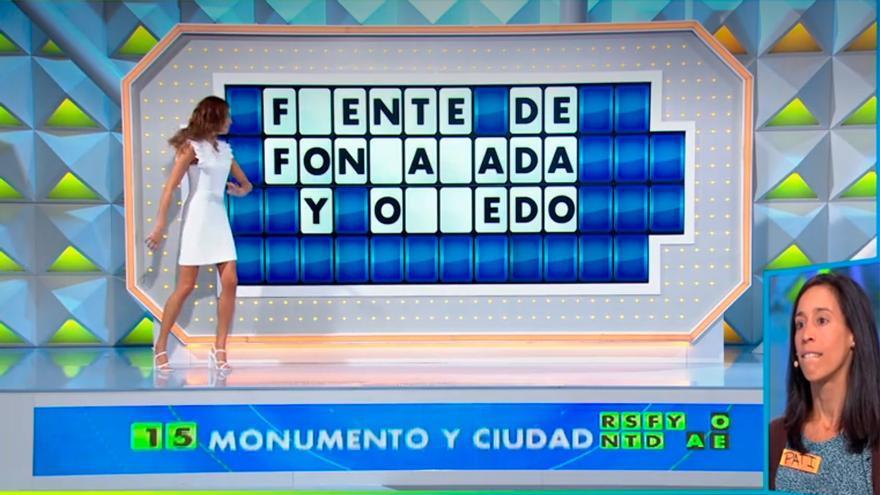 Un panel con Oviedo como protagonista da 10.000 euros a una concursante de la Ruleta de la suerte