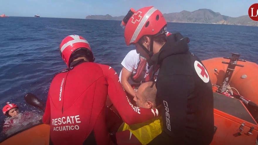 Simulacro de rescate de Salvamento Marítimo y Cruz Roja