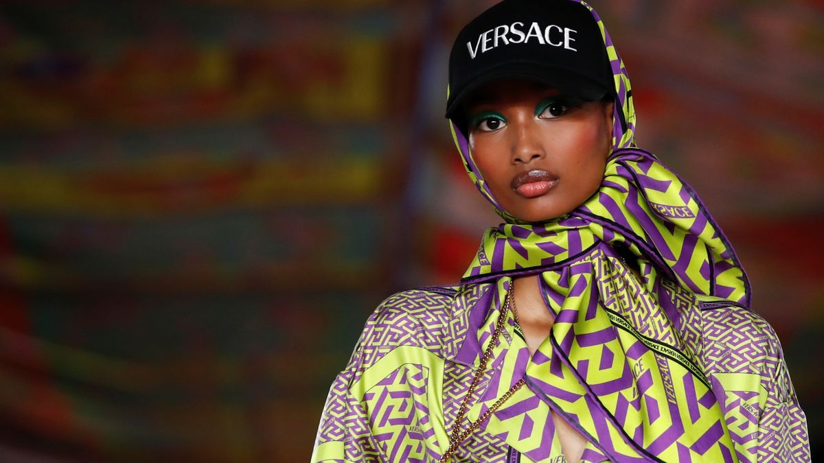 Versace presents its Spring/Summer 2022 collection during Milan Fashion Week