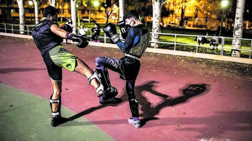 El parque León Felipe se convierte en gimnasio