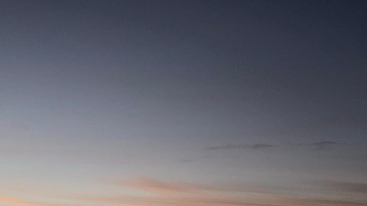 Cielo en Zamora esta mañana.