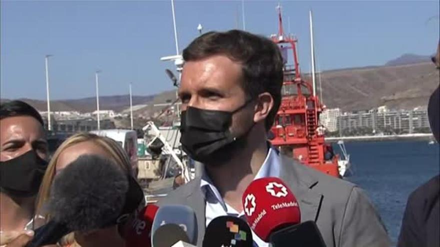 """Pablo Casado exige """"repatriaciones inmediatas"""" para los migrantes de Arguineguín"""