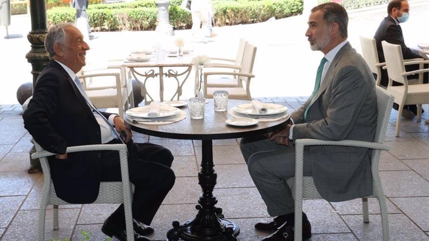 El Rey recibe al presidente de Portugal