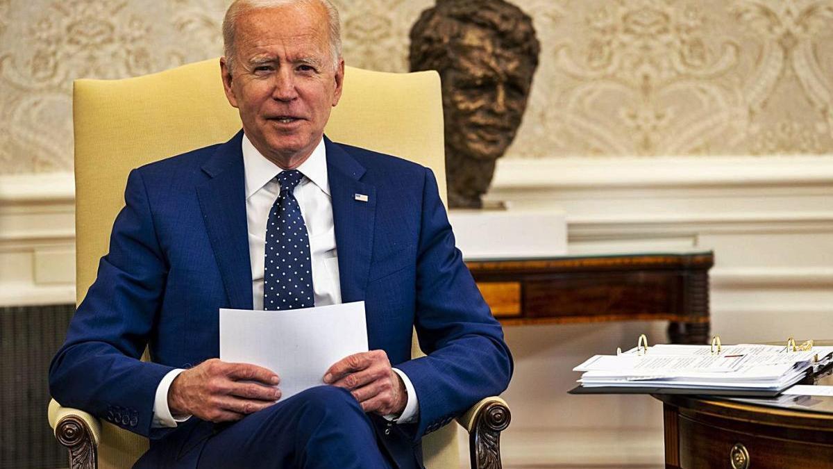 Joe Biden en la compareixença de la setmana passada per l'expulsió de 10 diplomàtics russos