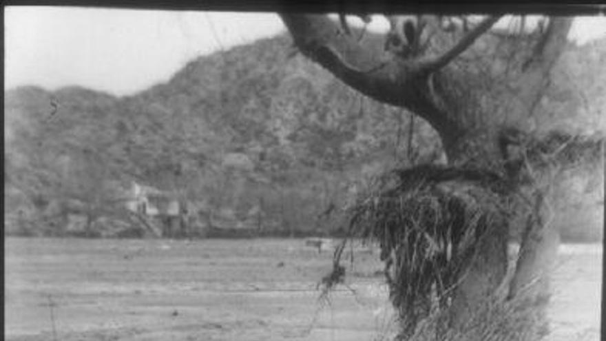 """Fotografías de la presa de Ribadelago del Martín Santos para el diario """"YA"""""""