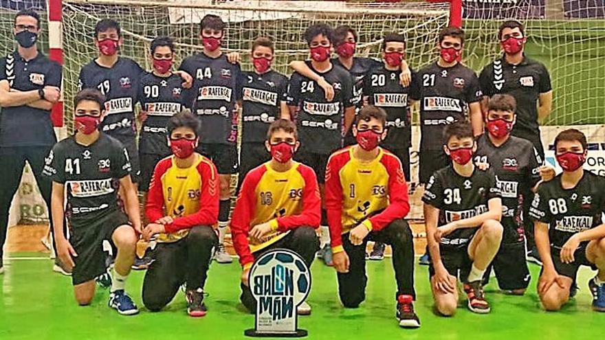 El equipo infantil de balonmano de Culleredo se proclama campeón gallego y logra plaza para el estatal