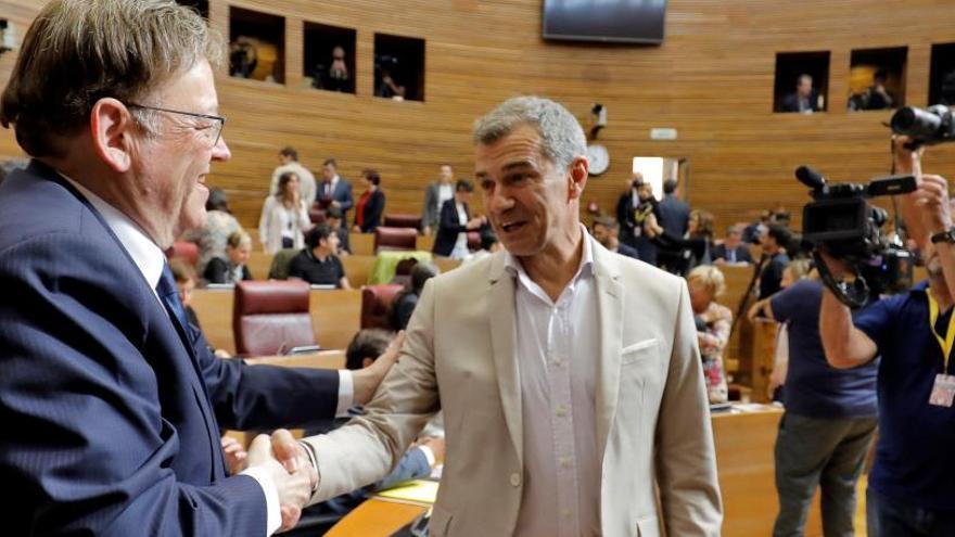 Un nuevo encuentro entre Puig y Cantó acerca a Cs a los presupuestos
