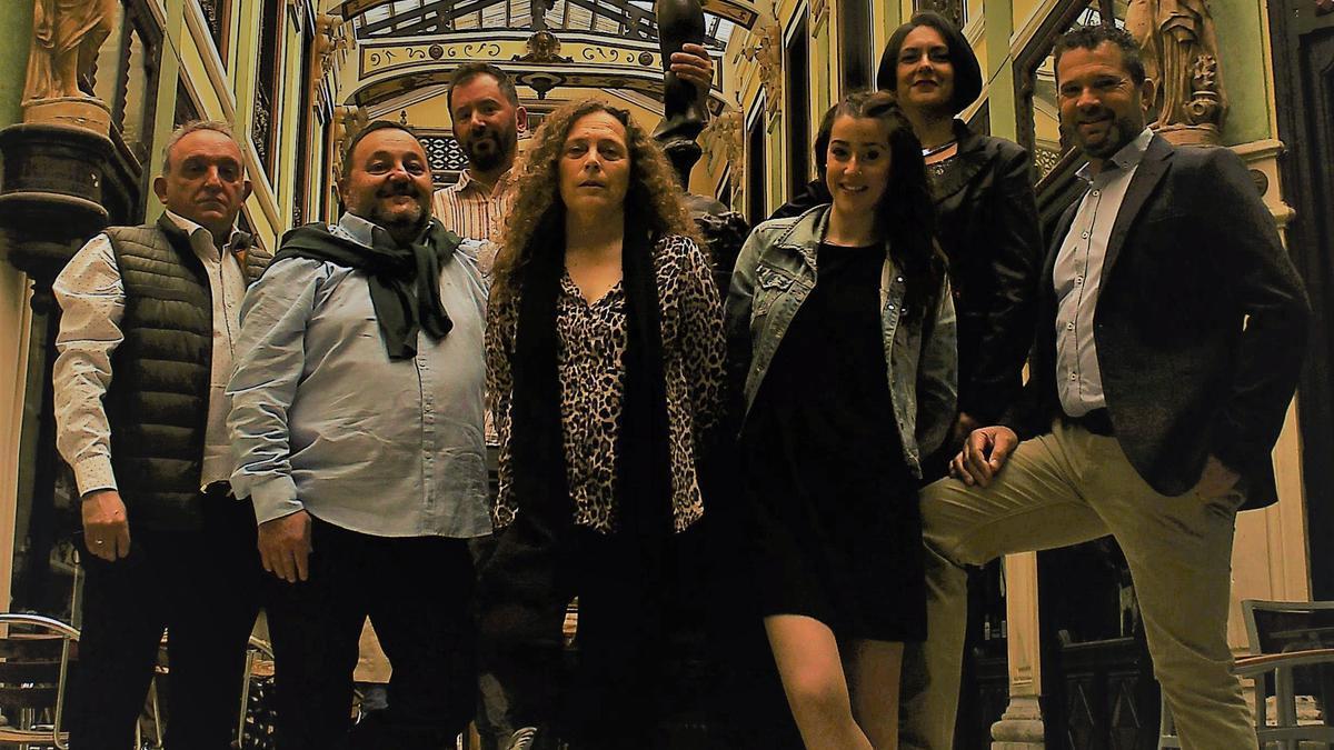 """Miembros de """"Alquitara Folk"""" que actúan el domingo en Guarrate"""