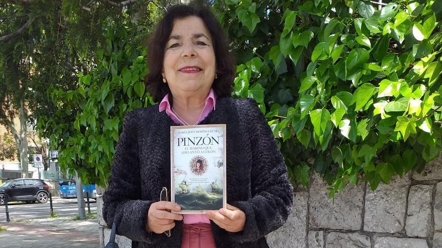 La autora porriñesa María Jesús Domínguez Sío presenta en Madrid su novela sobre Pinzón