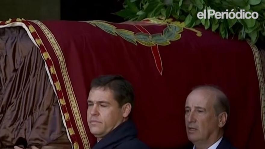 Franco ha sido exhumado del Valle de los Caídos tras 44 años