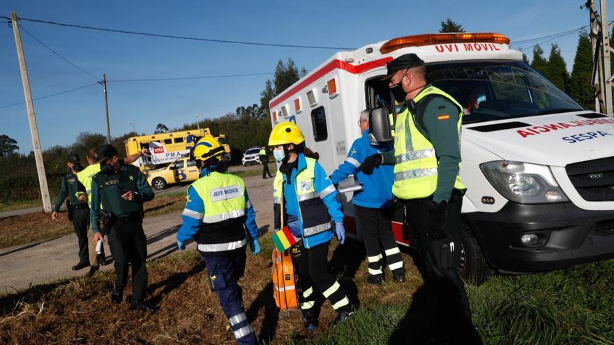 Un imaginario accidente de avión pone a prueba la capacidad de respuesta de las emergencias asturianas