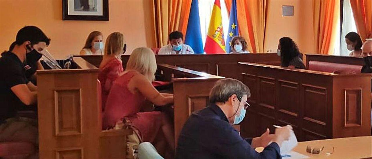 Un Pleno celebrado en el Ayuntamiento de Laviana.