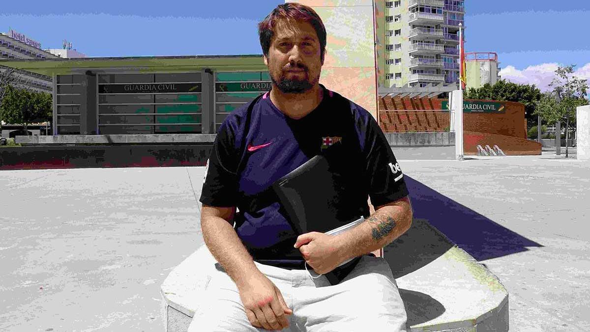 Juan Rodríguez, en Magaluf.
