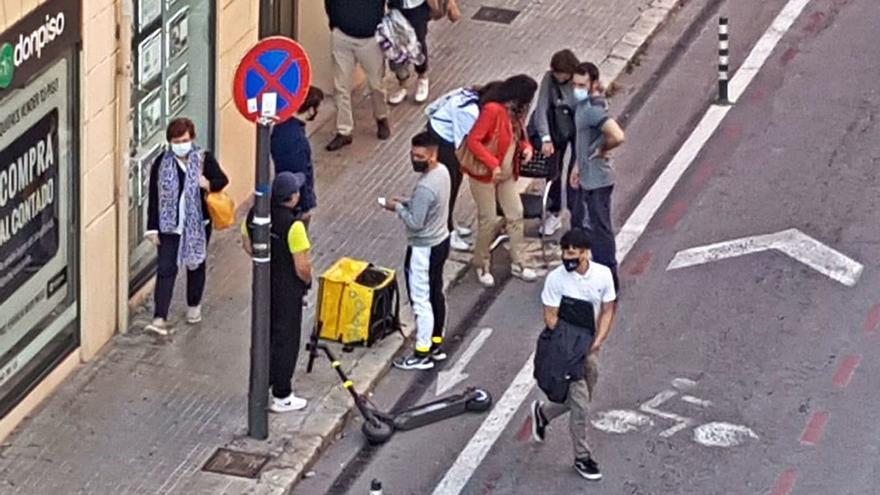 Los accidentes de patinete eléctrico han causado 87 heridos este año en Palma