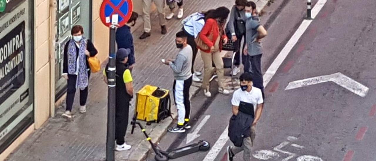Una persona herida en un accidente de patinete cerca de la Porta de Sant Antoni, en Palma.