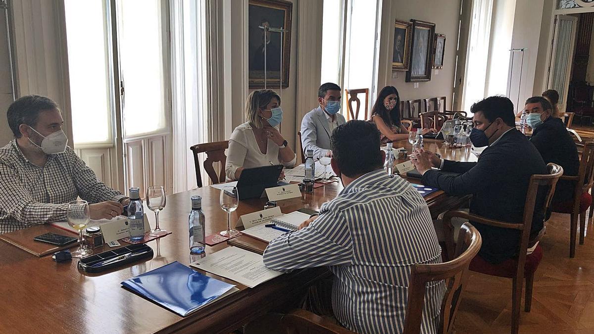 Reunión del Foro de Coordinación Interadministrativa del Mar Menor, ayer. | CARM