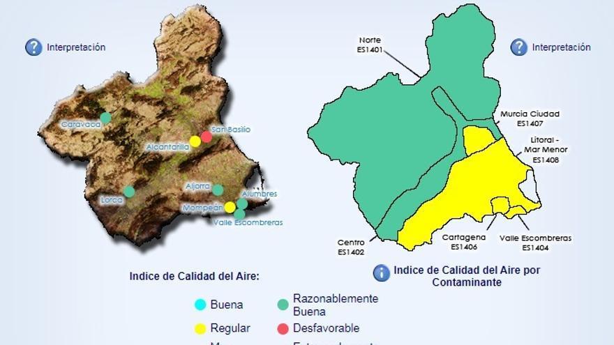 Cartagena activa el nivel 1 por contaminación del aire