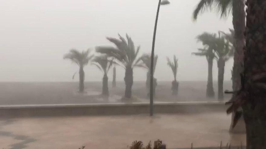 Vídeo: Tormenta y temporal en la playa del Tamarit, en Santa Pola
