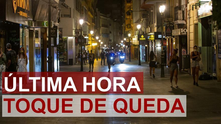 DIRECTO | Última hora del toque de queda en Alicante hoy martes 27 de octubre